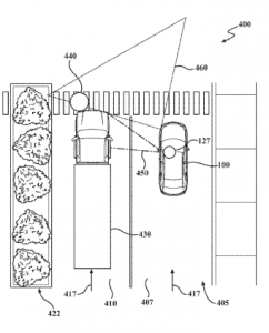 Toyota Patent application relating to obstructed view